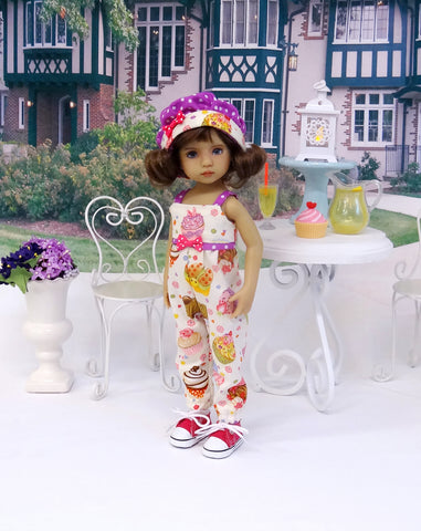 Yummy Cupcakes - romper, hat, socks & shoes for Little Darling Doll or 33cm BJD