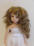 Zoey Wig in Ginger Brown - for Little Darling dolls