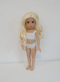 Zsa Zsa Wig in Bleach Blonde - for Little Darling dolls