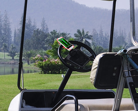 A Phone Mount On Your Golf Cart! How Cool Is That?