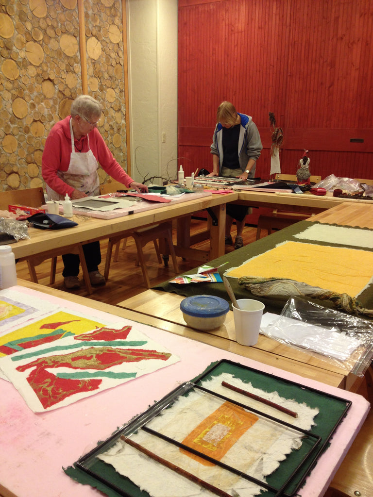 """Weaving in a paper maker's world"" at the clearing folk art school, June 18-24, 2017"