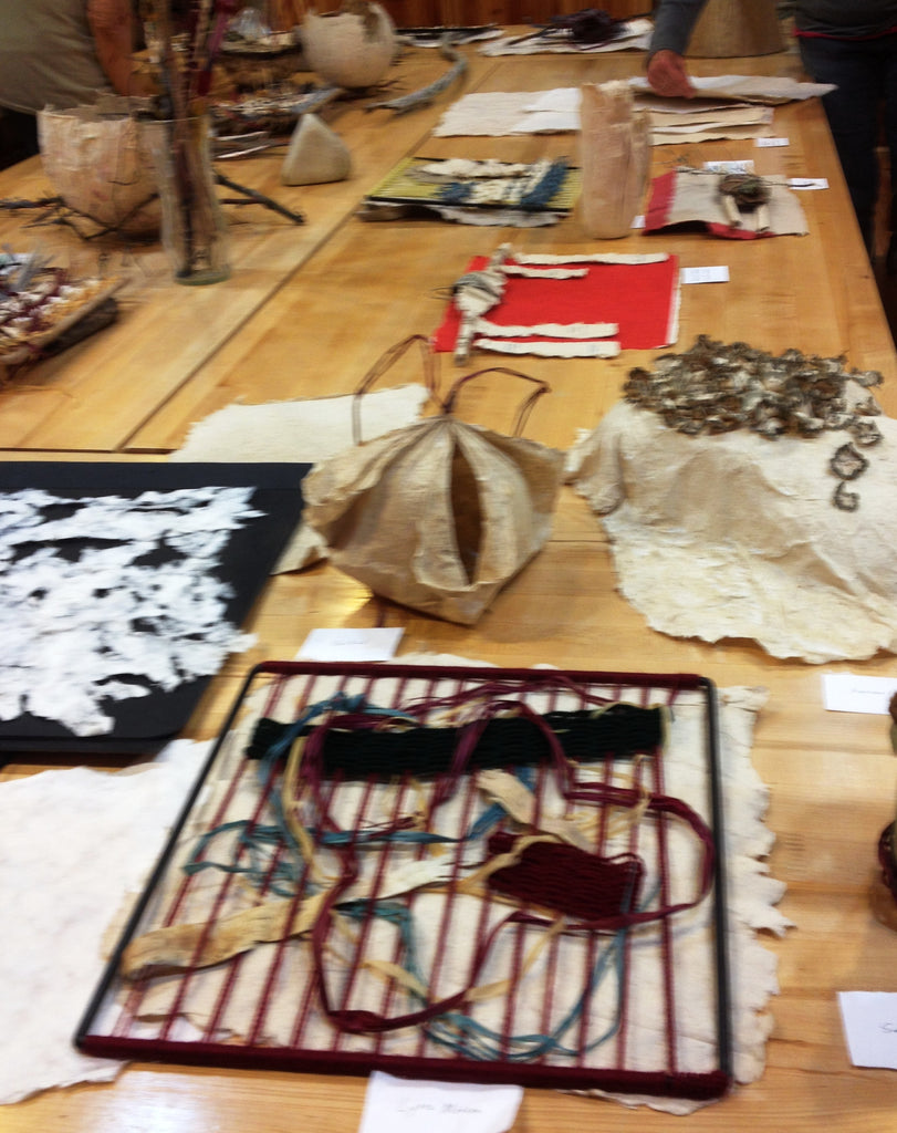 "2017 Clearing Folk Art School class-""Weaving in a Paper maker's world"""