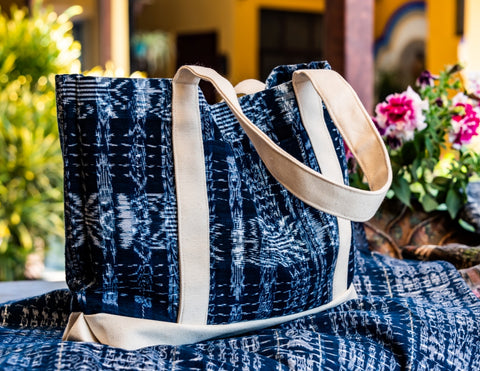 Hand Crated Indigo Tote Bag