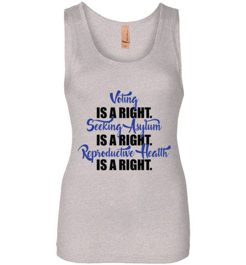 Voting, Seeking Asylum, and Reproductive Health is a Right Tshirt - Statement Tease