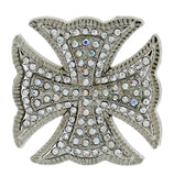 Western MALTESE Clear Rhinestone Cross Conchos 3 pieces CH130CL