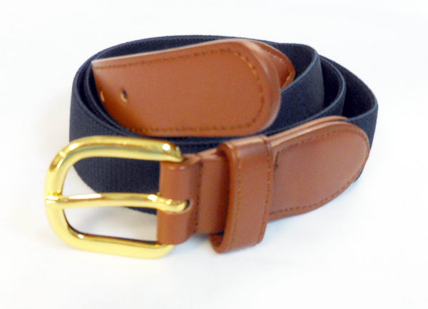 Wholesale Mens Leather Elastic Stretch Men's Boat marine belt Wholesale 8001NBK