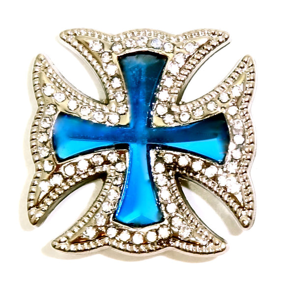 Western Maltese CROSS turquoise conchos 3 pcs CH169TQ
