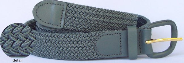 Grey Color Big and Tall Elastic Stretch Belt for Men 7001LGY