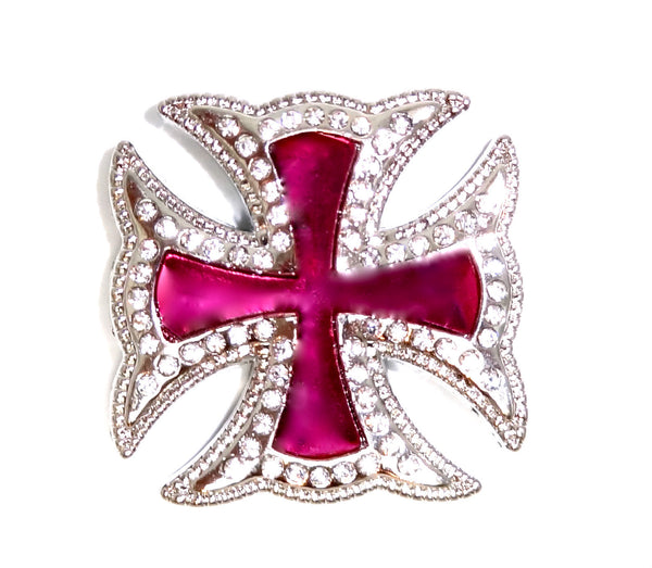 Wholesale Western Maltese CROSS PINK concho 3pcs CH169PK