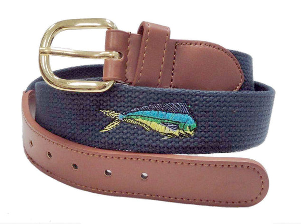Fishing Marine leather Dolphin Belt wholeslale 8003NB