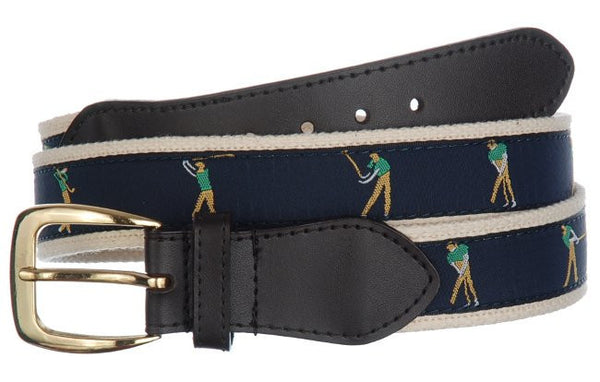 Golf Perfect Swing PGA Sports Leather Cotton Belt Wholesale 9801
