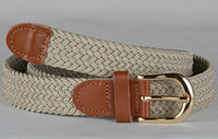 Wholesale Lady's Elastic Braided Stretch Golf Belt IVORY Color 6001IV