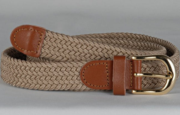 Wholesale Lady's Elastic Braided Stretch Golf Belt SAND Color 6001SD