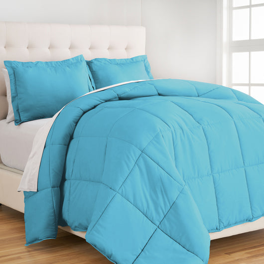 bare home, Comforter, Comforter Set, Twin XL Comforter Set, Twin Comforter Set, King Comforter Set, Full / Queen Comforter, Queen Comforter, Full comforter set, Microfiber comforter, microfiber, bedroom set, bedding, hypoallergenic, premium, ultra soft, blue full comforter set, blue queen comforter set, blue comforter set