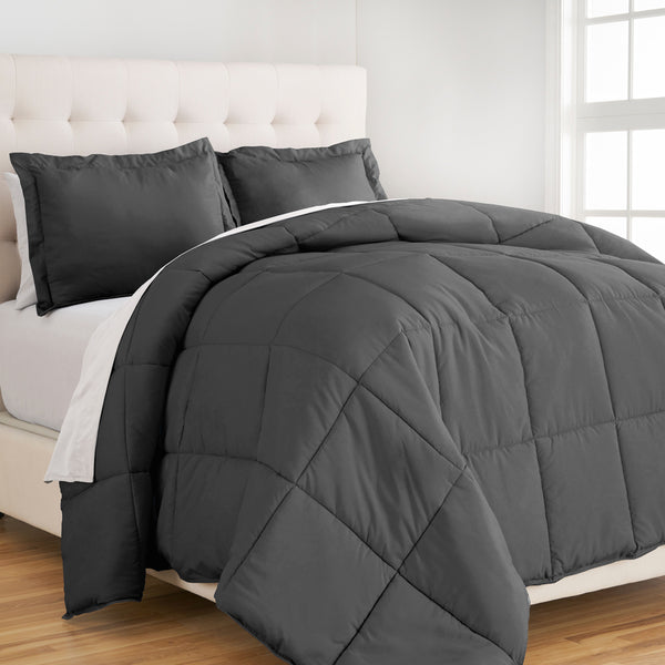 bare home, Comforter, Comforter Set, Twin XL Comforter Set, Twin Comforter Set, King Comforter Set, Full / Queen Comforter, Queen Comforter, Full comforter set, Microfiber comforter, microfiber, bedroom set, bedding, hypoallergenic, premium, ultra soft, grey full comforter set, grey queen comforter set, gray comforter set