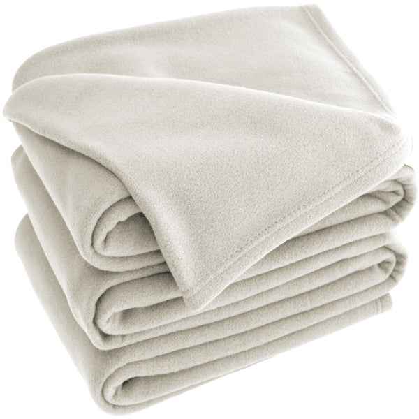 Bare Home, Polar Fleece, blanket, blankets, lightweight blanket, fleece blanket, premium ultra soft, hypoallergenic, cozy, dorm blanket, fleece, all season, thermal, luxury, ivory polar fleece lightweight blanket
