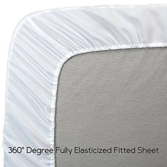"Ultra Soft Microfiber Fitted Sheet - 21"" Extra Deep Pocket"