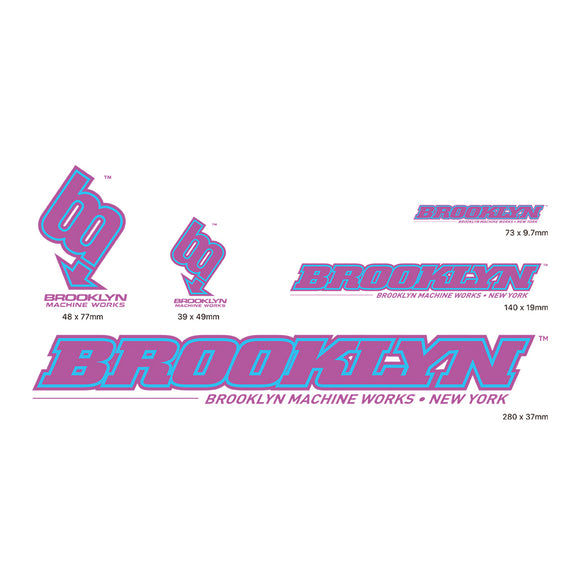 Brooklyn Machine Works Sticker Pack - Multiple Colors!