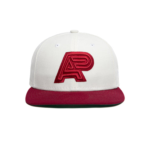 NEW ERA LP5950 natural / burgundy fitted cap