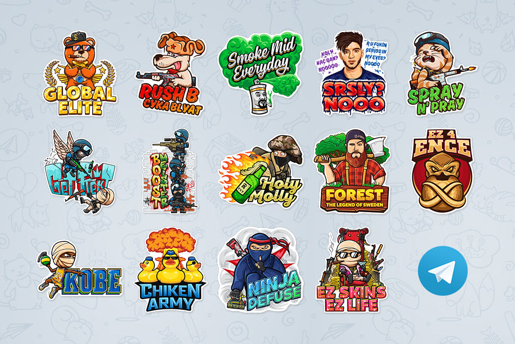 OUR DOPE CS:GO STICKERS IN TELEGRAM!