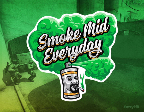 Smoke Mid Everyday Sticker (CS:GO Dope Series 1)