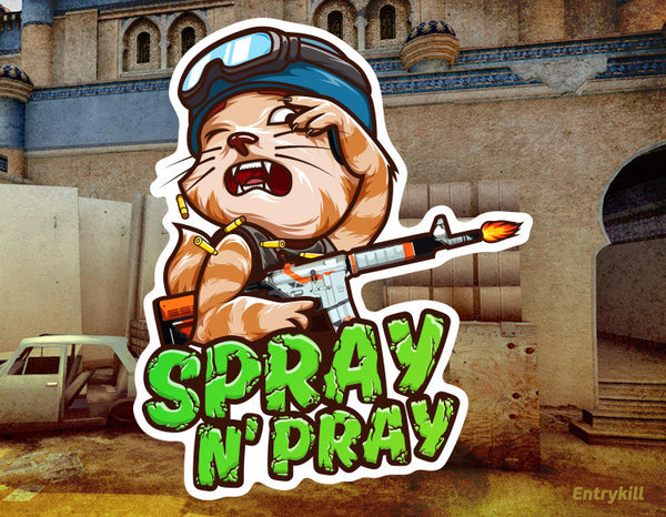 Spray N' Pray Sticker (CS:GO Dope Series 1)