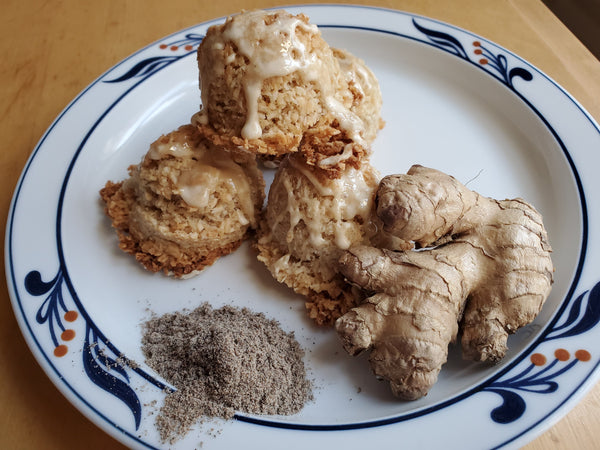 Cardamom Macaroons (with a Ginger Glaze)