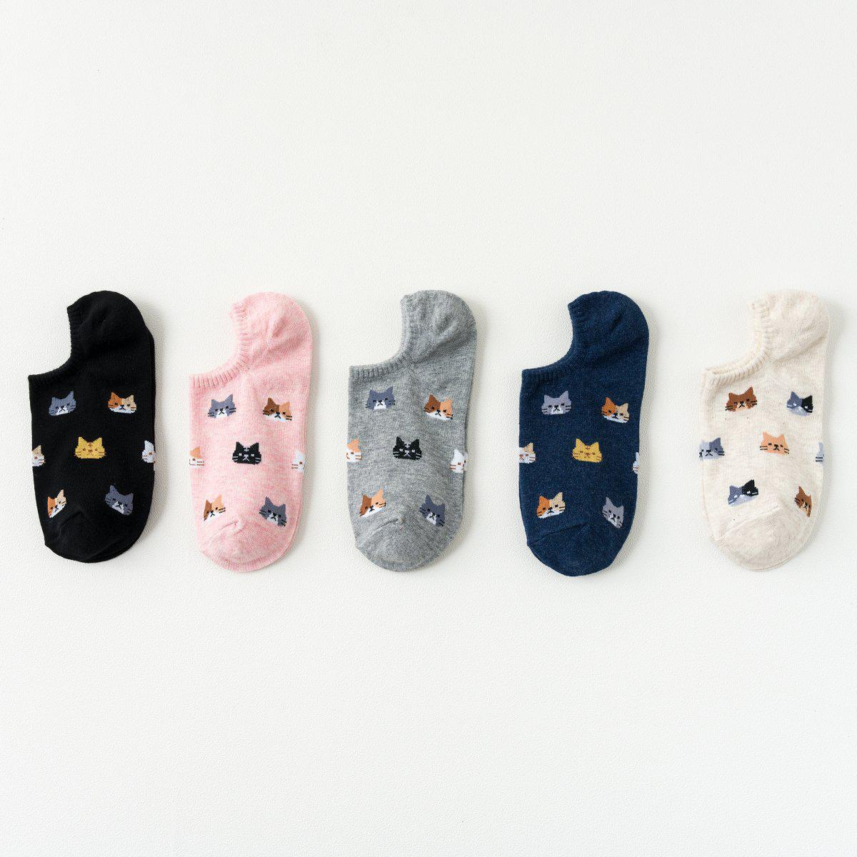 Cat Face Pattern Women's Now Show Socks