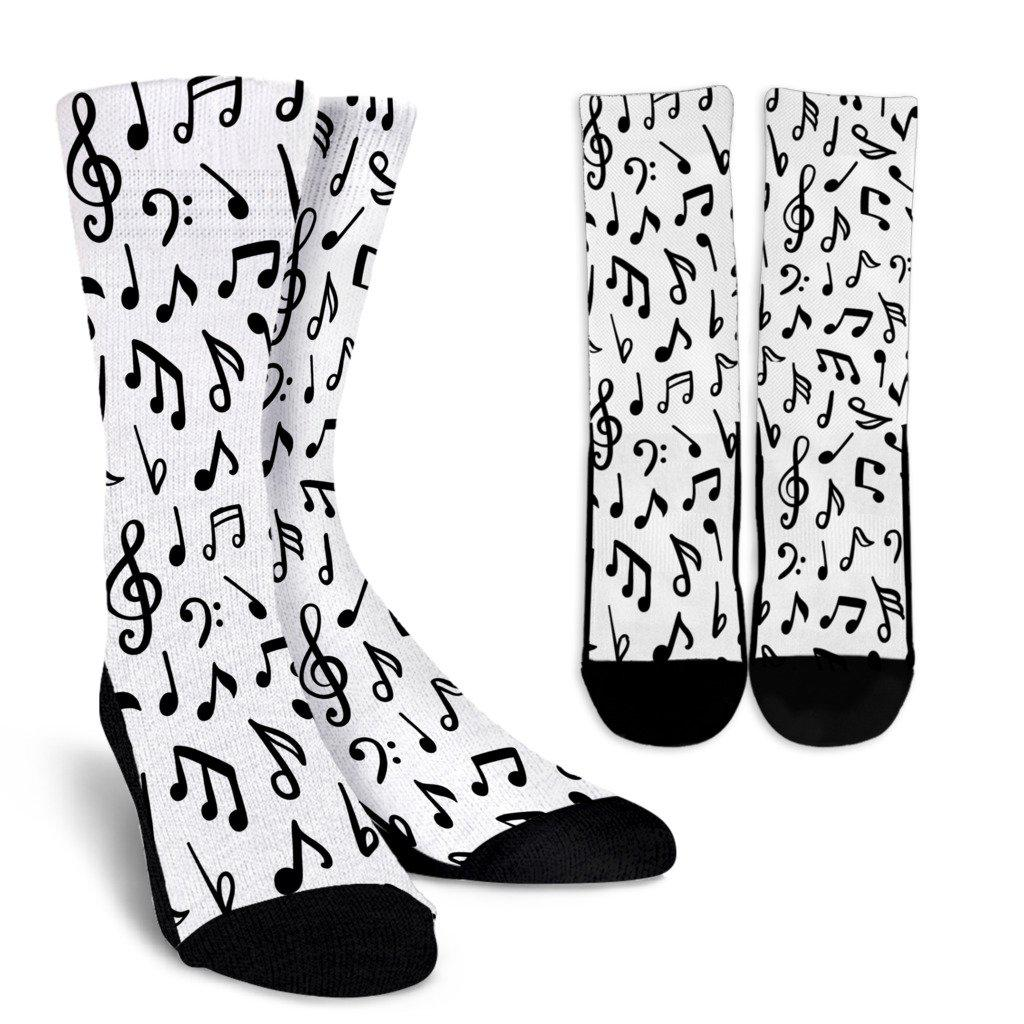 Music Notes Sublimated Crew Socks