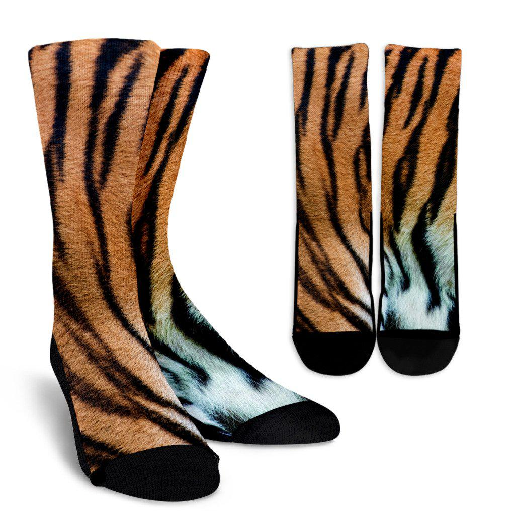 Tiger Skin Sublimated Crew Socks