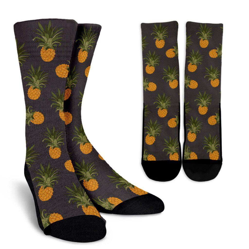Pineapple Pattern Sublimated Crew Socks