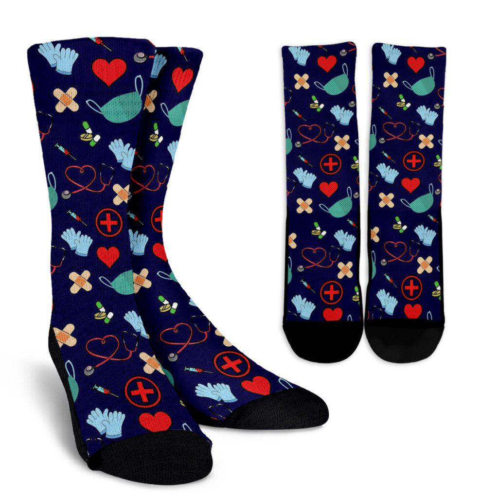 Nursing Sublimated Crew Socks