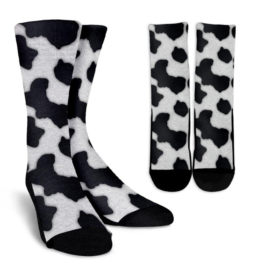 Funny Cow Pattern Sublimated Crew Socks