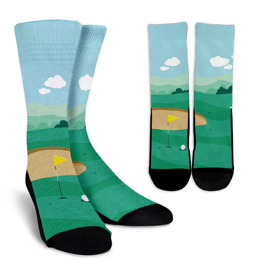 Golf On the Green Sublimated Crew Socks