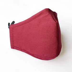 Comfortable and Adjustable Cotton Face Mask with replaceable PM2.5 Filter - Red - UPKIWI