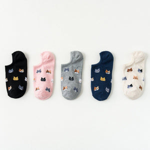 Cat Face Pattern Women's Now Show Socks - - UPKIWI