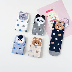 Animal Polka Dot Women's Ankle Socks