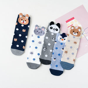Animal Polka Dot Women's Ankle Socks - - UPKIWI