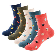 Sushi Fruit Desserts Food Variety Pattern Women's Ankle Socks