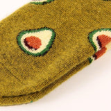 Avocado Pattern Women's Winter Wool Socks - UPKIWI