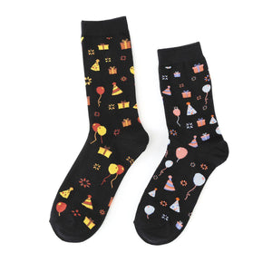 Happy Birthday Celebration Crew Socks - - UPKIWI