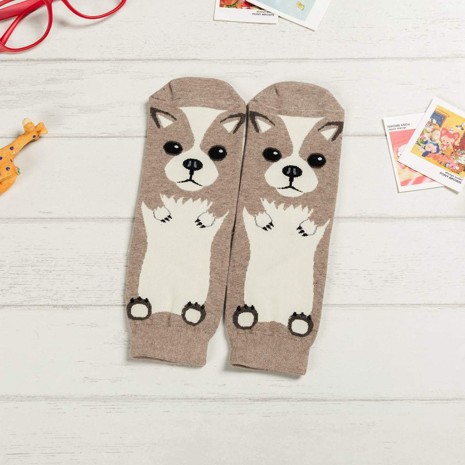 Cartoon Dog Breed Socks - Welsh Corgi / Women's Shoe Size 5-10 - UPKIWI