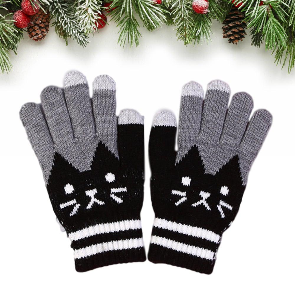 Cute Cat Touch Screen Gloves - UPKIWI