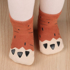 Chubby Paw Toddler Socks - S 0-2T / Brown - UPKIWI