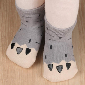 Chubby Paw Toddler Socks - S 0-2T / Gray - UPKIWI