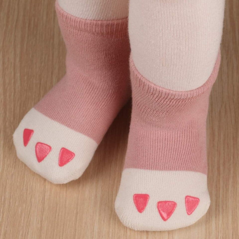 Chubby Paw Toddler Socks - M 2T-4T / Pink - UPKIWI