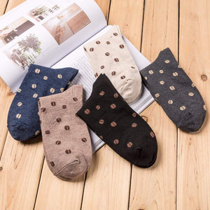 Coffee Bean Men's Socks - - UPKIWI