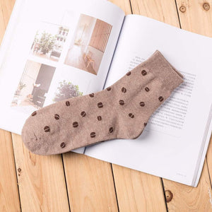 Coffee Bean Men's Socks - UPKIWI