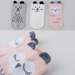 Owl and Dog Cozy Baby Toddler Kids Socks (0-4 Years Old) - UPKIWI