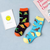 Dinosaur World Toddler Kids Crew Socks - UPKIWI